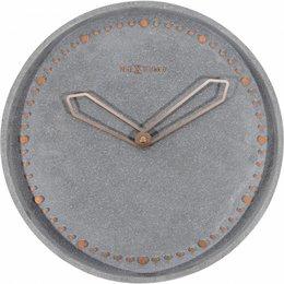 NeXtime Wandklok-Cross -35 cm-Grijs