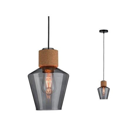 Paulmann Neordic Edla-Pendant lamp-Glass-kurk-Black