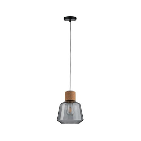 Paulmann Neordic Elia-Pendant lamp-Glass-kurk-Black