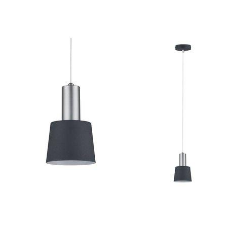 Paulmann Neordic Haldar-hanglamp-donkergrijs-chroom