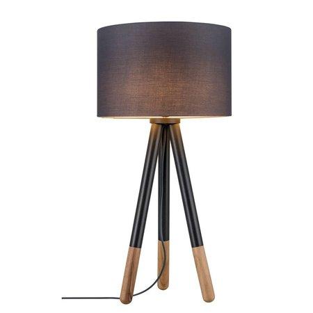 Paulmann Neordic Rurik-Table lamp-Grey-Wood