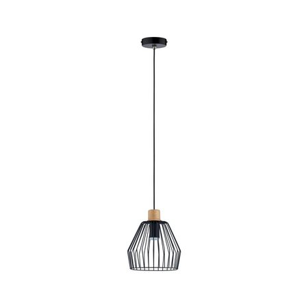 Paulmann Cameo-Pendant lamp-Black-Wood