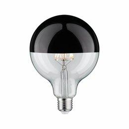 Paulmann LED Globe 125 5W E27 230V kopspiegel zwart glanzend 2700K  dimbaar