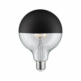 Paulmann LED Globe 125 5W E27 230V Mirror bulb Black mat 2700K  dimmable