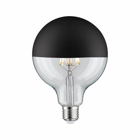Paulmann LED Globe 125 5W E27 230V kopspiegel zwart mat 2700K  dimbaar
