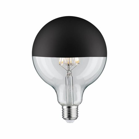Paulmann LED Globe 125 5W E27 230V Mirror bulb Black mat 2700K  dimmable
