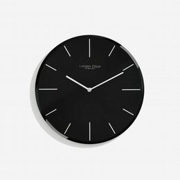 London clock Clock Glass - Black