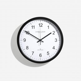 London clock Schoolklok -  RC SIMPLE- zwart