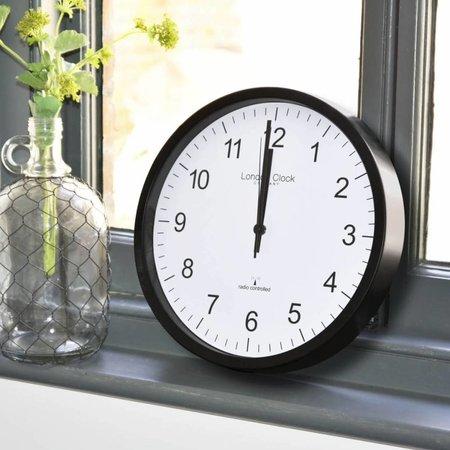 London clock Schoolklok -  RC SIMPLE- zwart