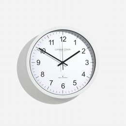 London clock Schoolklok -  RC SIMPLE - wit