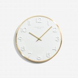 London clock Wandklok - Elvie- Messing