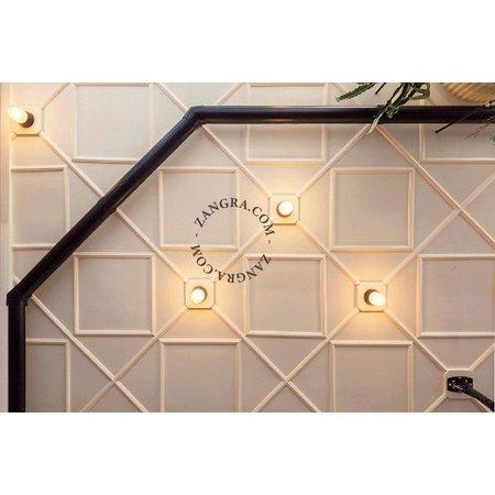 Zangra Plafondlamp - zwart bakeliet - mat