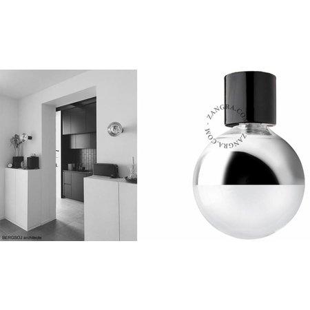 Zangra Plafondlamp - zwart porselein
