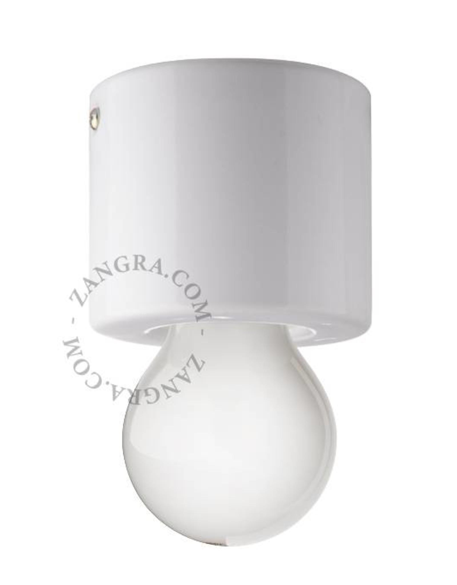 Zangra Ceiling lamp - white - porcelain