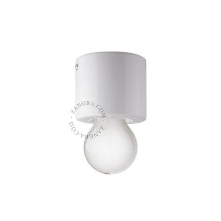 Zangra Plafondlamp - wit - porselein