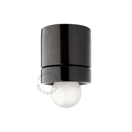 Zangra Ceiling lamp - black porcelain