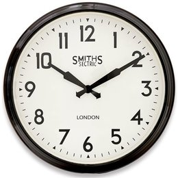 Smiths Station clock - Black