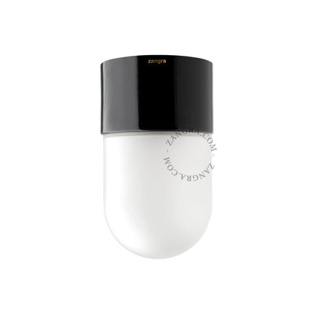 Zangra Plafondlamp - in zwart porselein