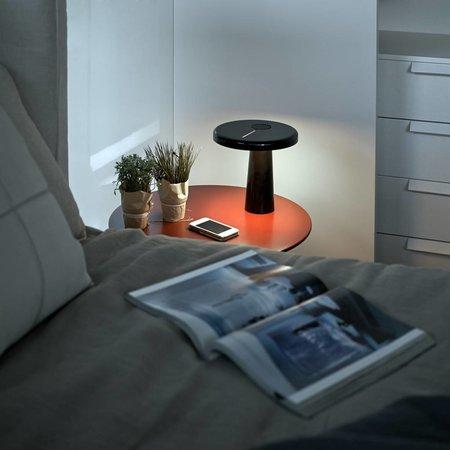 Martinelli Luce LED Table Lamp HOOP - ∅ 21,5 H 21 - BLACK