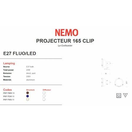 Nemo Projecteur 165 Clip - Tafellamp - Grijs