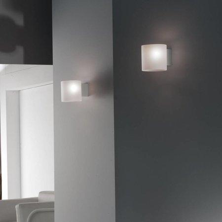 Martinelli Luce Wall Lamp - Glass Tube - White - 10 cm
