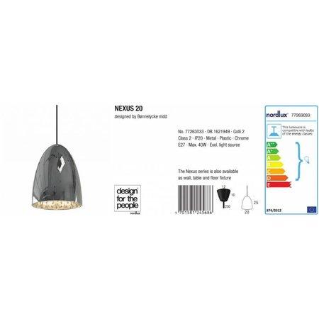 Nordlux Nexus 20 - Hanglamp - Grijs
