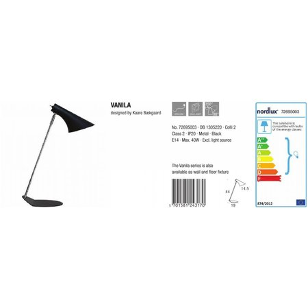 Nordlux Table lamp Vanila - Black