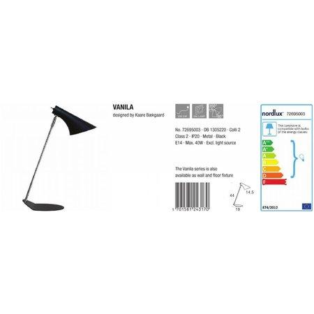 Nordlux Vanila - Tafellamp - Zwart