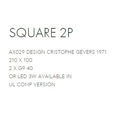 Axis71 Square 2P - Wandlamp - WIT