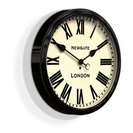 Newgate Battersby - wandklok - Zwart