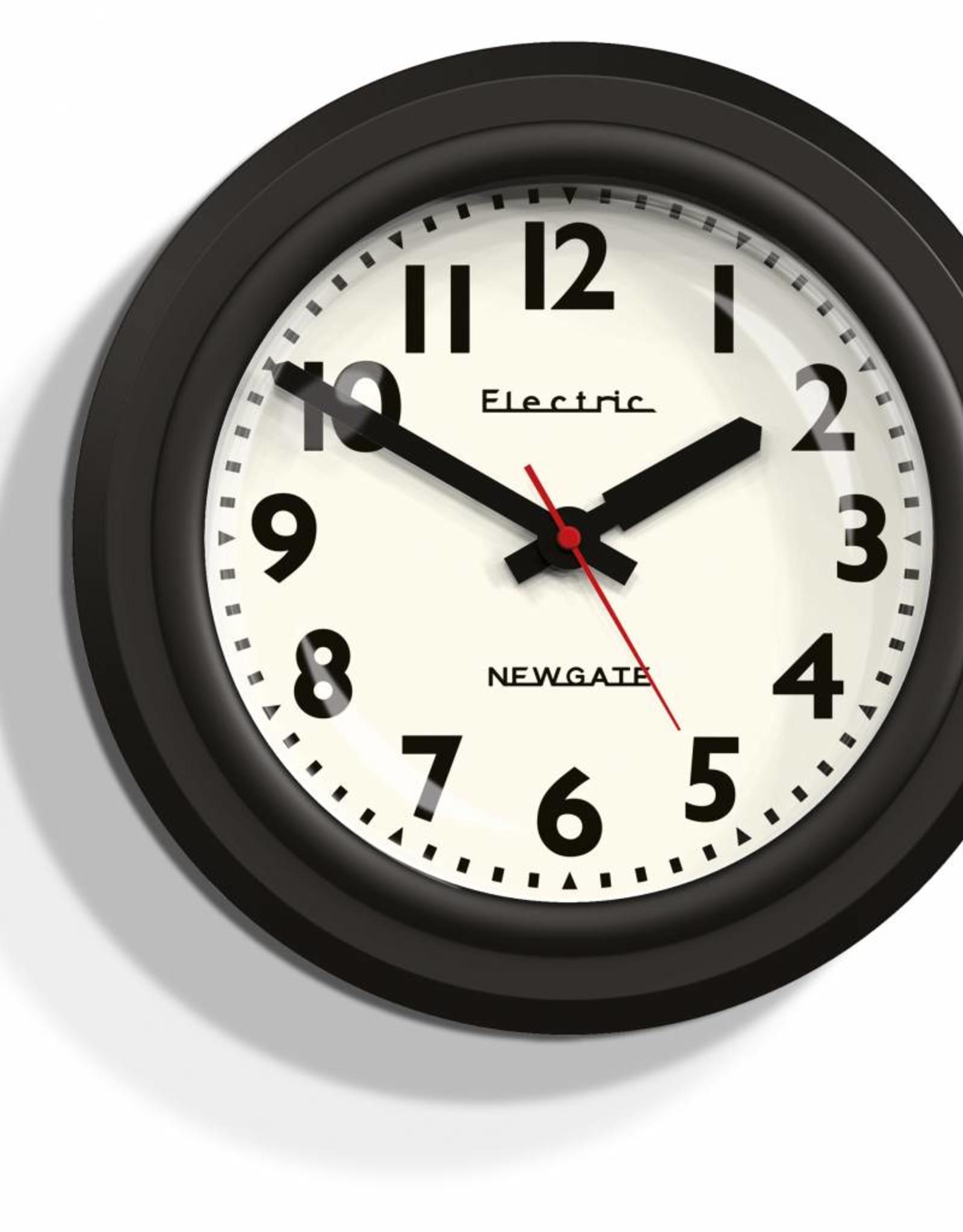 Newgate Telectric - wandklok - Zwart