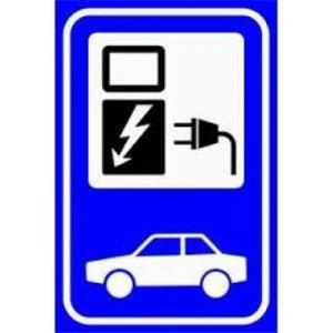EV-Box Verkeersbord elektrische auto E08o