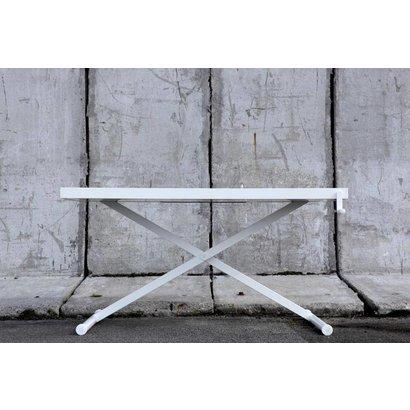 Holmris SALE: Holmris X-table white edition manueel verstelbare sta/zit tafel 68-128cm