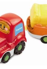 Vtech Toet toet Auto's Tom en Tractor + aanhanger +12m