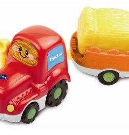Vtech Toet toet Auto's Tom Tractor + aanhanger +12m