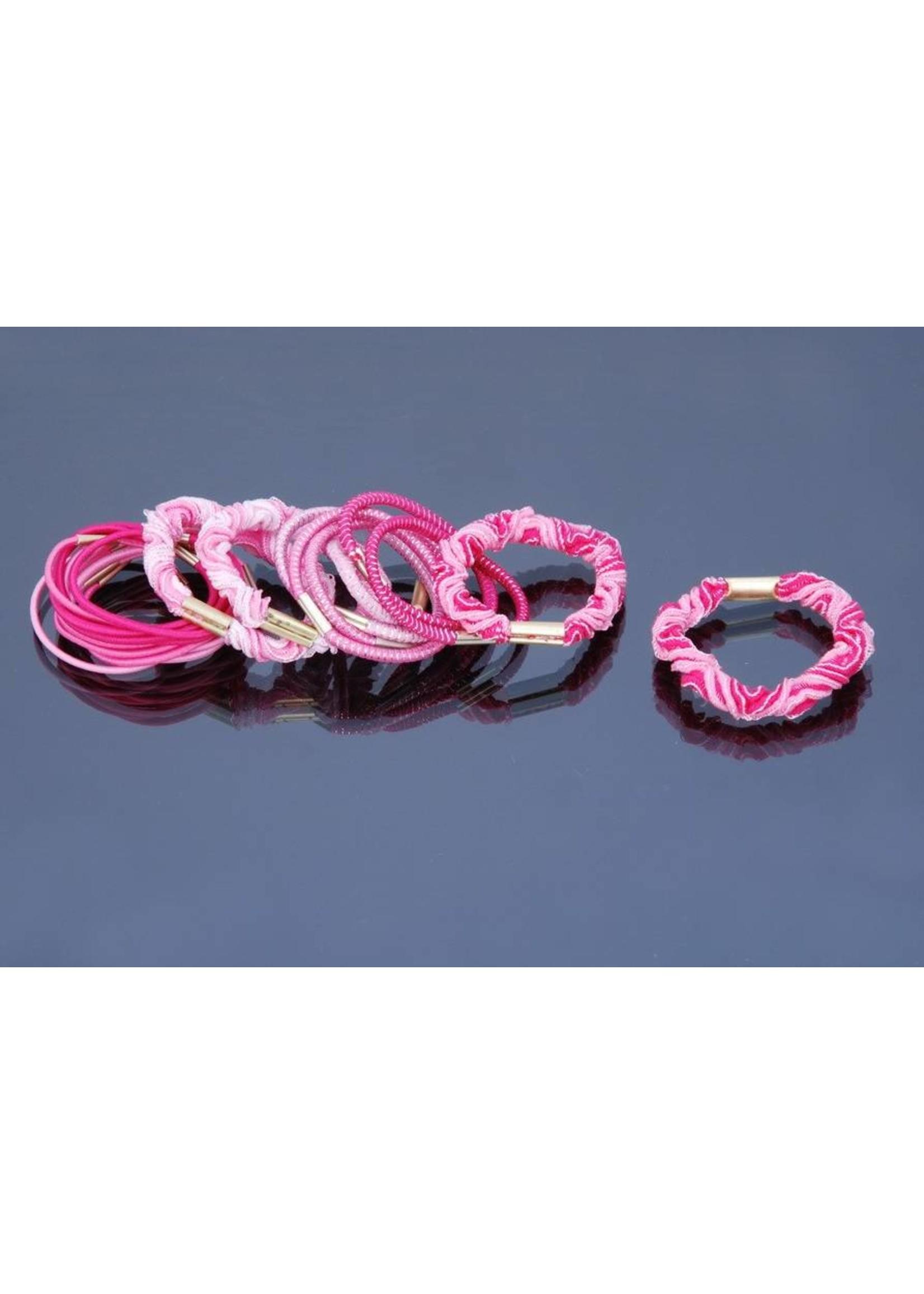 Haarmode Elastiek Mix Roze