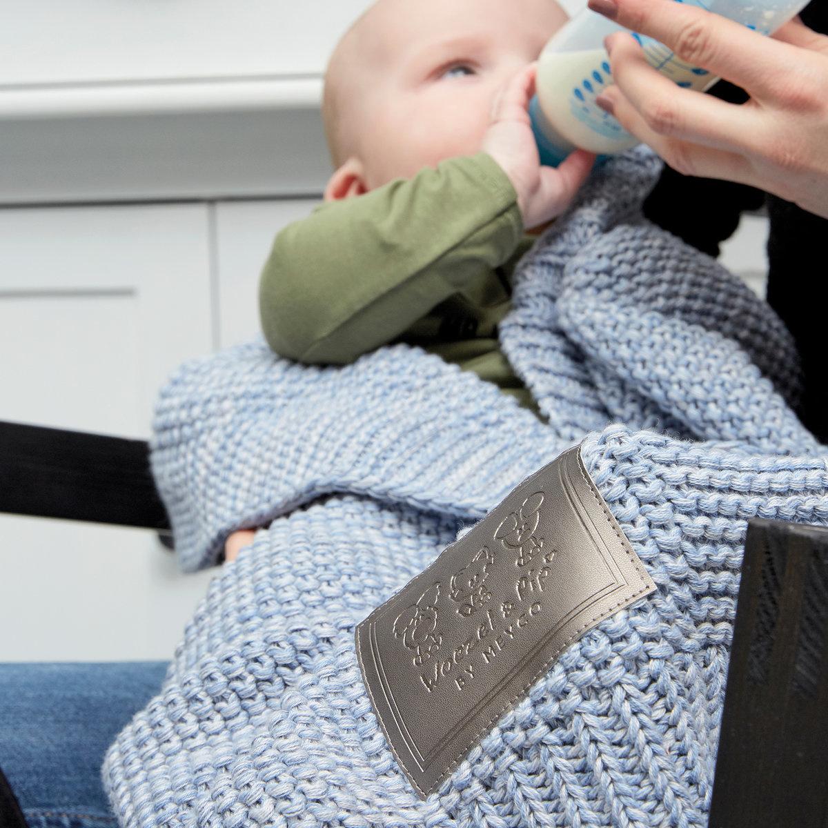 Woezel & Pip Baby Wiegdeken Woezel Blauw