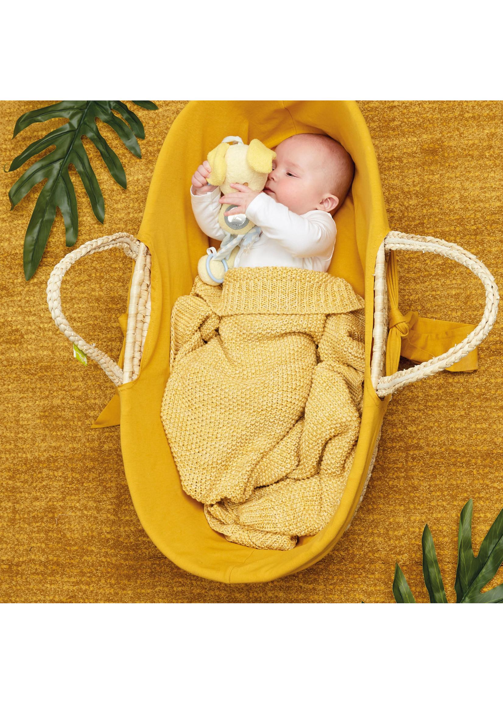 Woezel & Pip Baby Wiegdeken Pip Geel