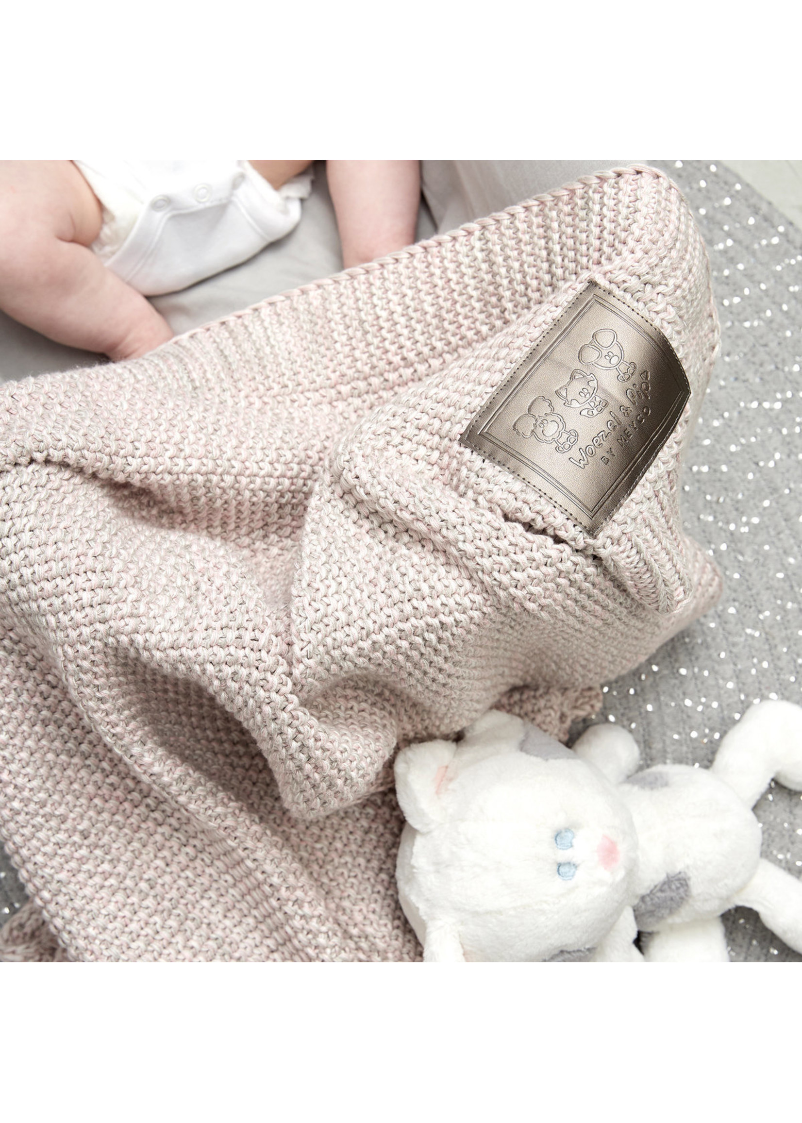 Woezel & Pip Baby Wiegdeken Buurpoes Roze