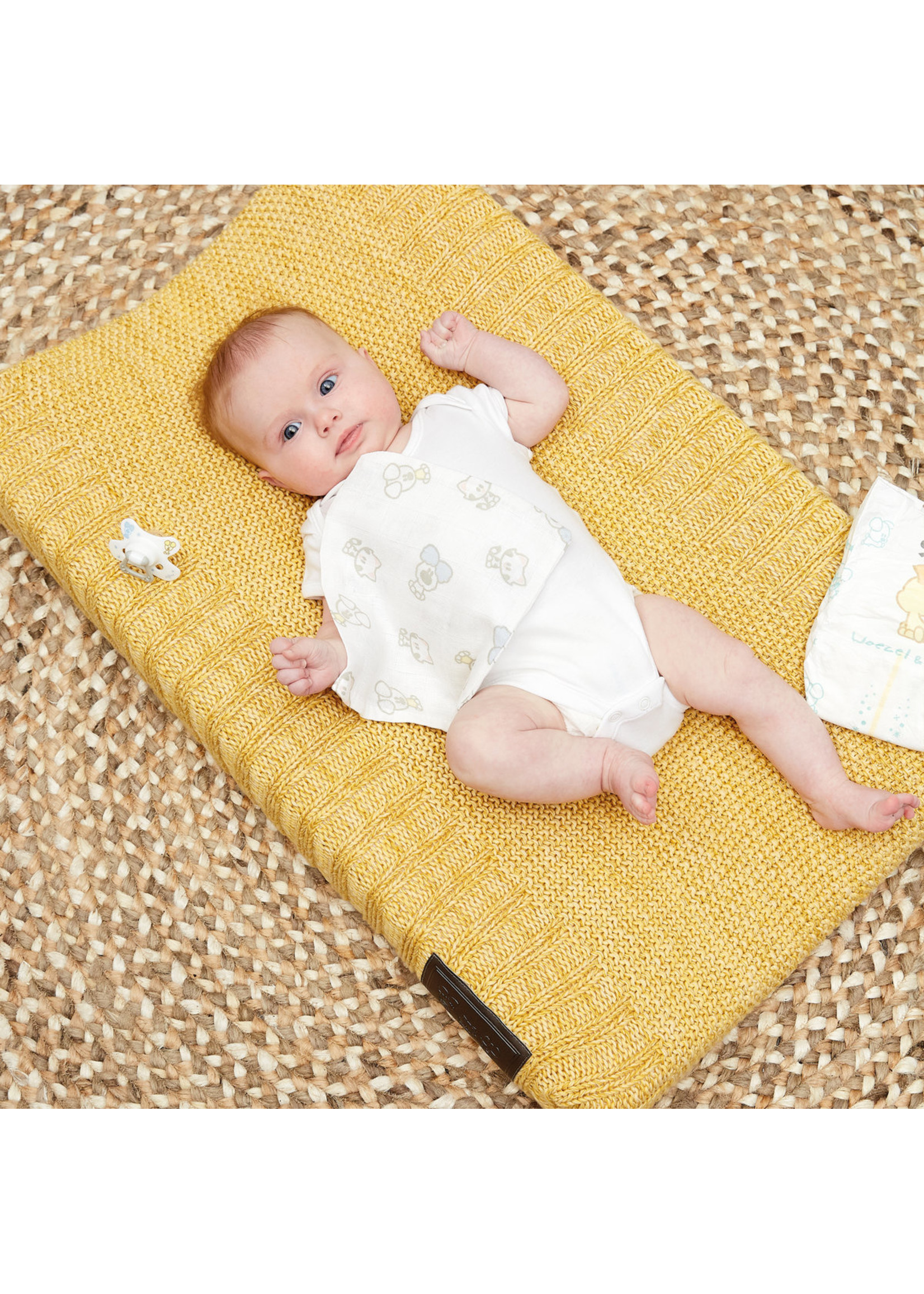 Woezel & Pip Baby Aankleedkussenhoes Pip Geel