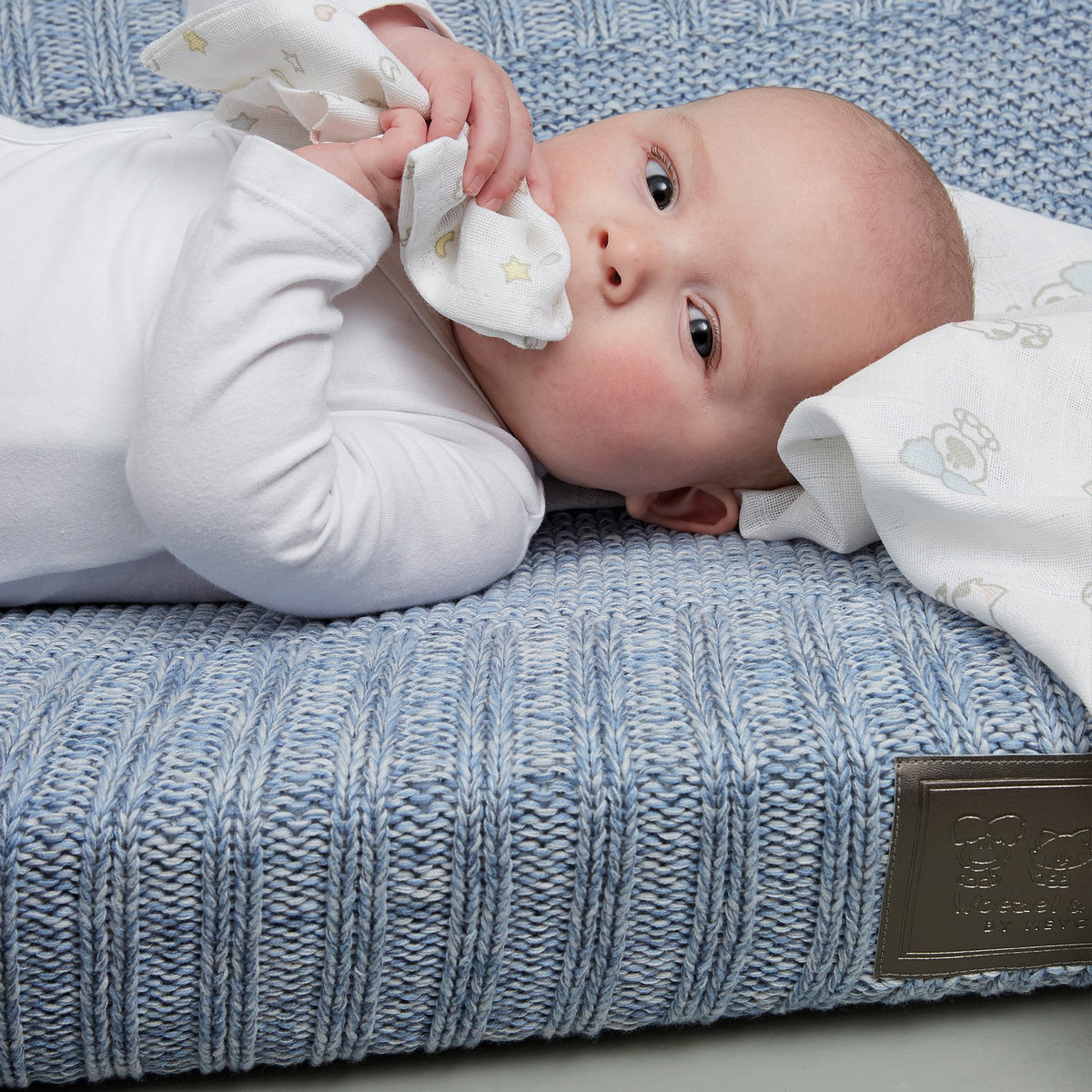 Woezel & Pip Baby Aankleedkussenhoes Woezel Blauw