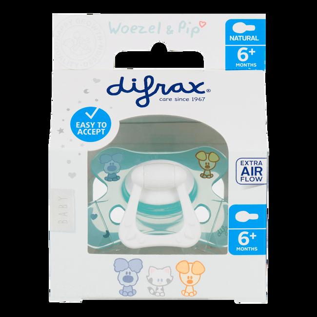 Difrax Woezel en Pip Fopspeen Natural 6mnd+