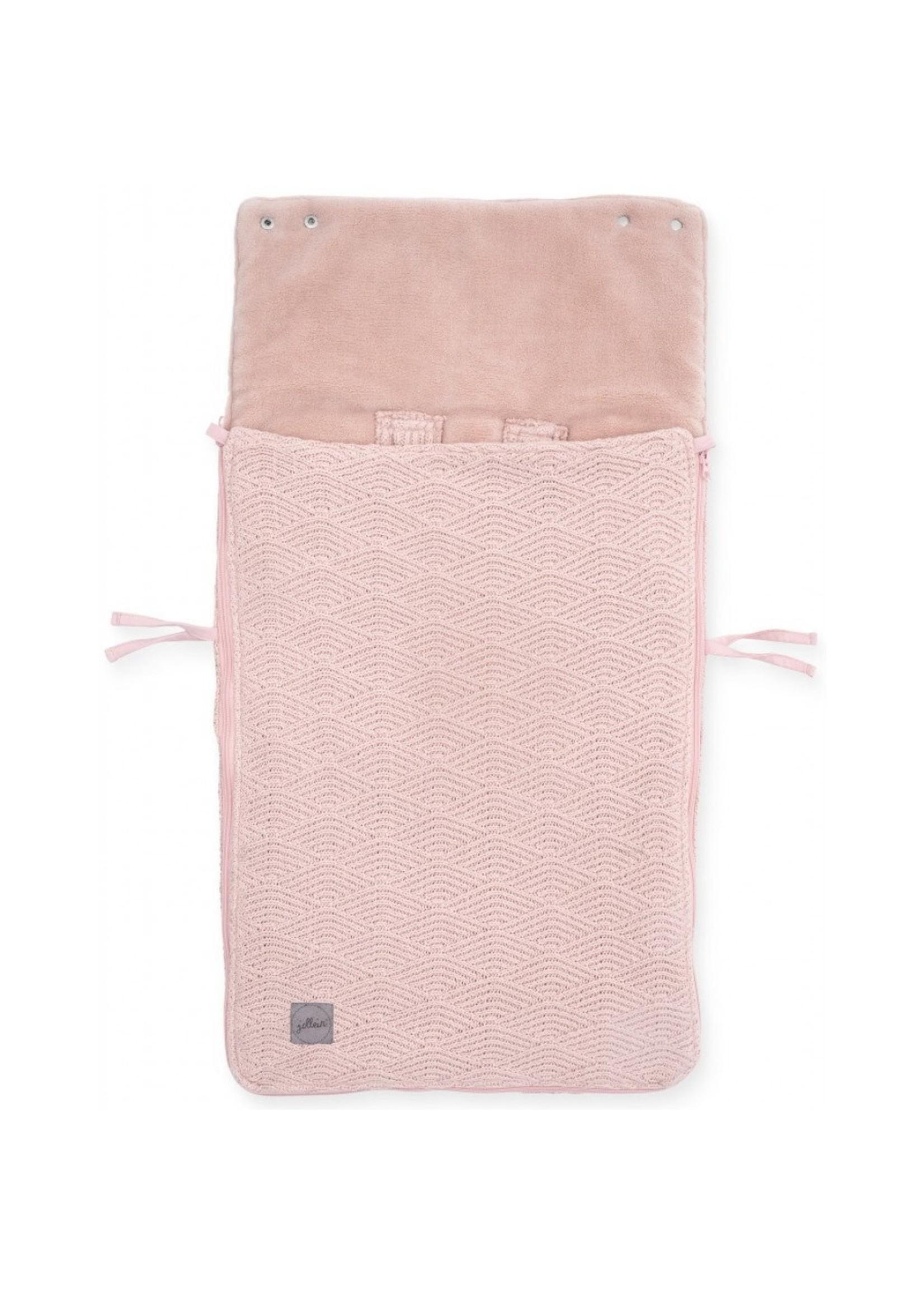 Jollein Voetenzak River Knit Pale Pink