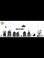 Romkje Statische Raamdecoratie Huisjes & Sint