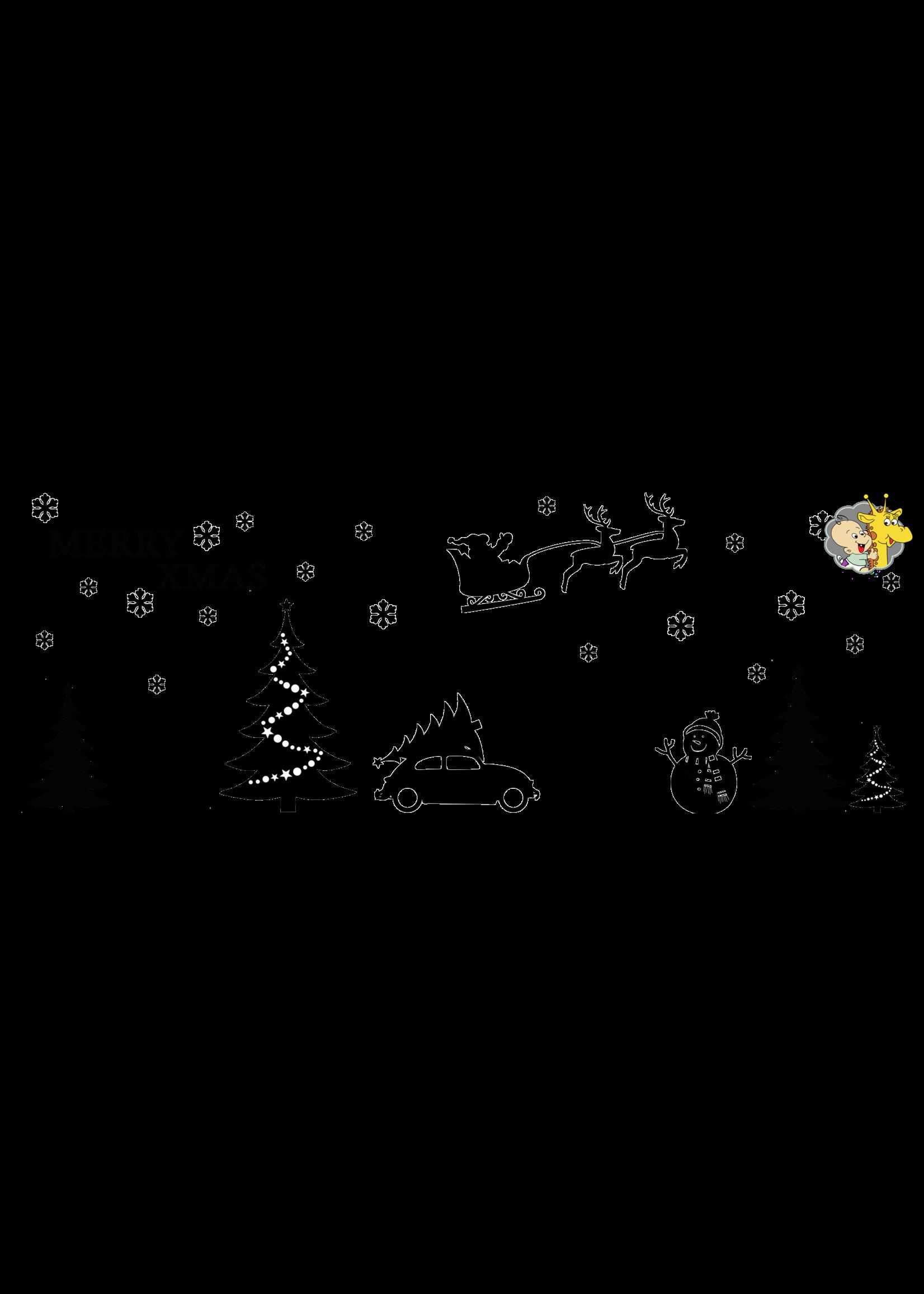 Romkje Statische Raamdecoratie Kerst