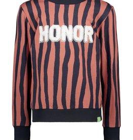 B.nosy Sweater Zebra Stripe Bruin