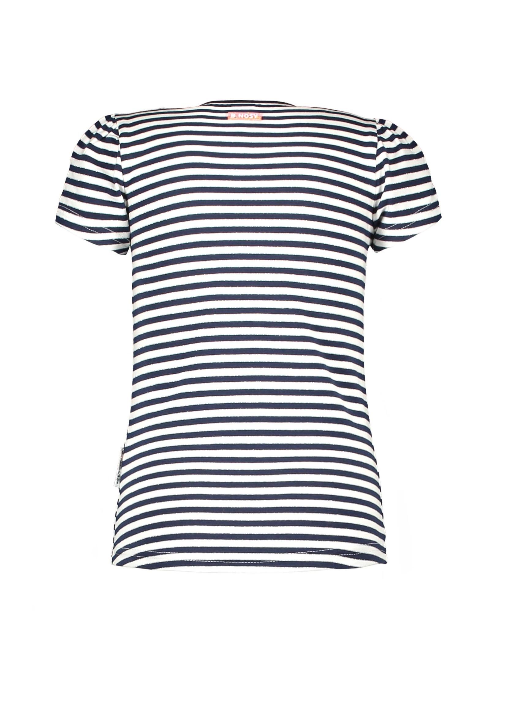 B.nosy Shirt Pewter Spring Stripe