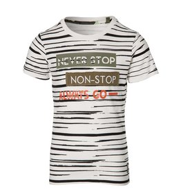 Quapi Shortsleeve Faber Off White Stripe