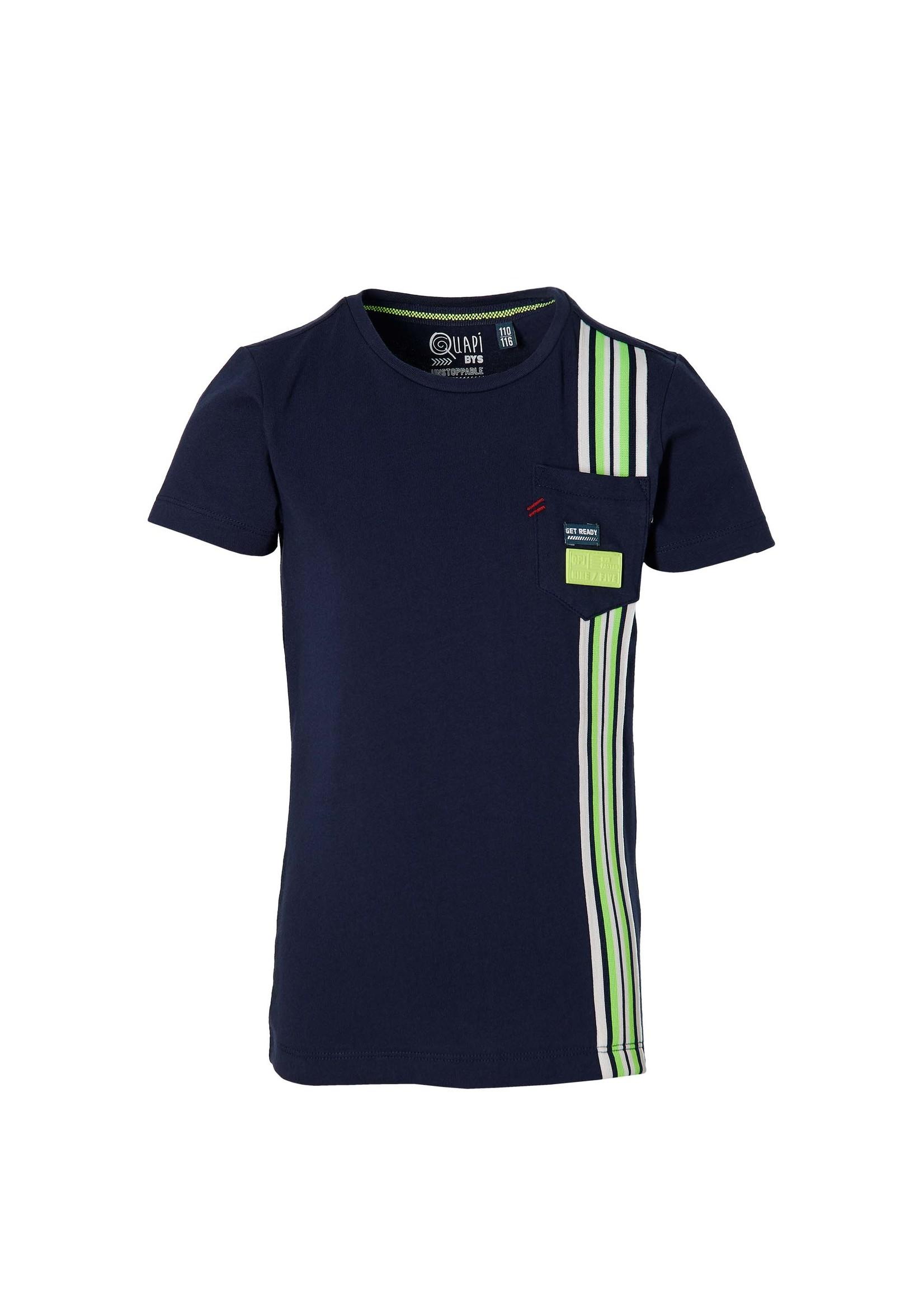 Quapi Shirt Fane Dark Blue