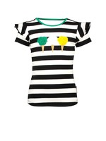B.nosy Shirt Cheer Black White Stripe